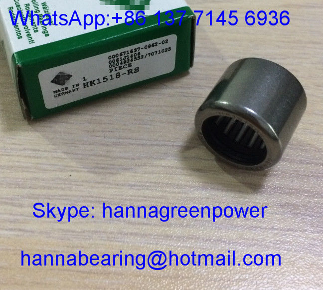 HK1518 / HK1518-RS Needle Roller Bearing /  HK1518RS Drawn Cup Roller Bearing with Open End 15x21x18mm