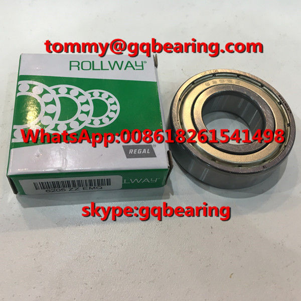 Gcr15 steel Material ROLLWAY 6205ZZ EMQ Metal Shielded Deep Groove Ball Bearing