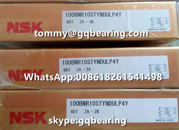 18 degree Contact Angle Duplex Universal NSK 100BNR10STYNDULP4Y Thrust Angular Contact Ball Bearing