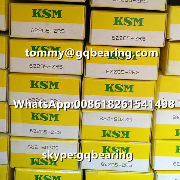 Japan Origin KSM 62205-2RS Rubber Sealed Deep Groove Ball Bearing 25 x 52 x 18 mm